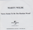 Marty & Kim Wilde - Sorry Seems To Be The Hardest Word  (2007)